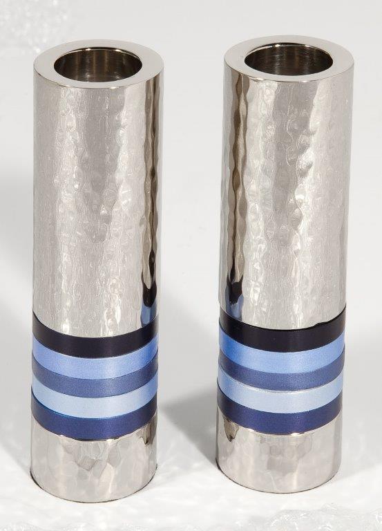 זוג פמוטים-גליל טבעות כחול 2